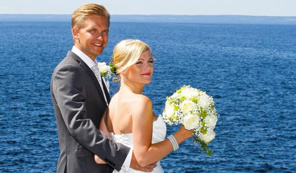 Bröllop, Vättern, Fotograf Anders Bergsten